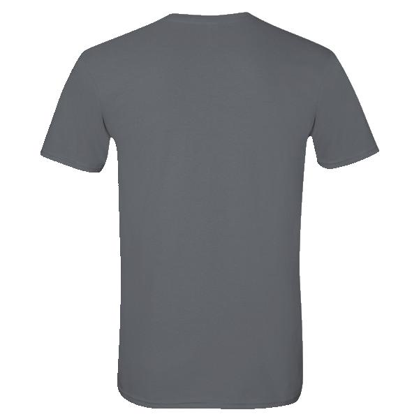 dark heathered gray t-shirt back