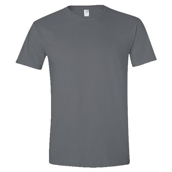 dark heathered gray t-shirt front