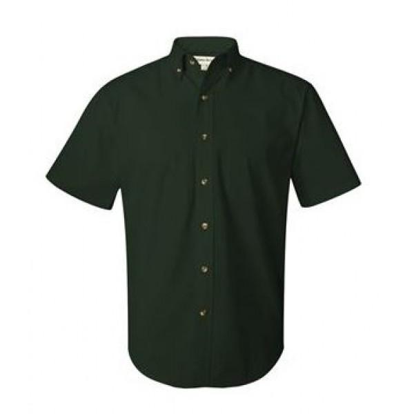 green button down collared shirt