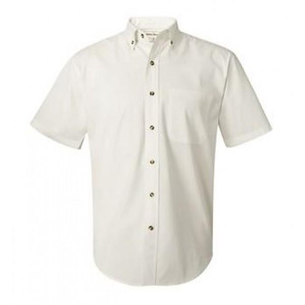 white collared button down shirt