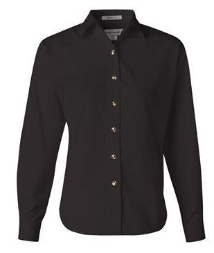 black long sleeve button down collared shirt