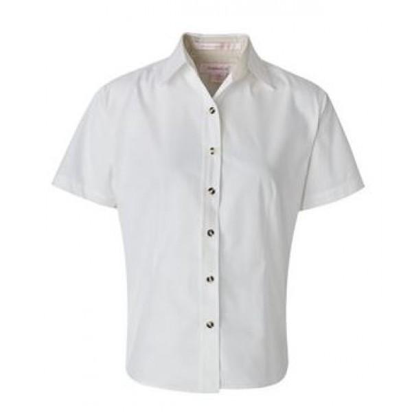 white short sleeve button down collared shirt