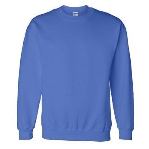 blue crewneck sweatshirt
