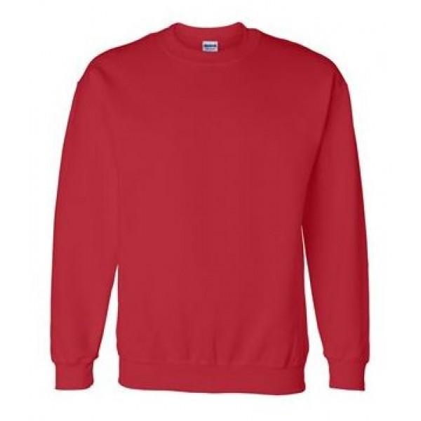 red crewneck sweatshirt