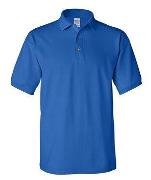 blue short sleeve polo