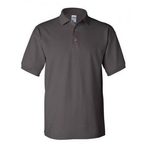 gray short sleeve polo