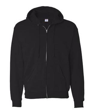 black full-zip jacket