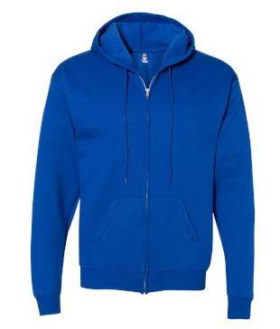 blue full-zip jacket