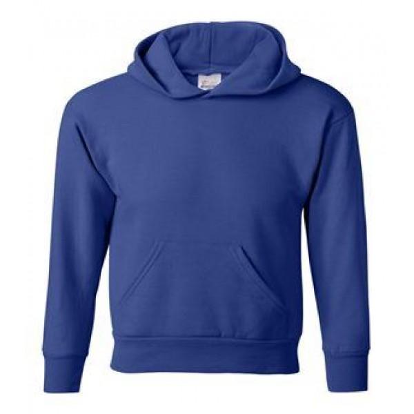 blue youth hooded sweatshirt