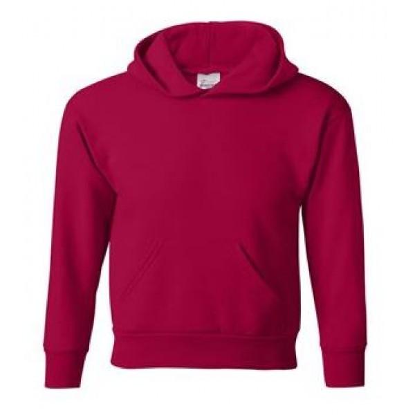 red youth hooded sweatshirt