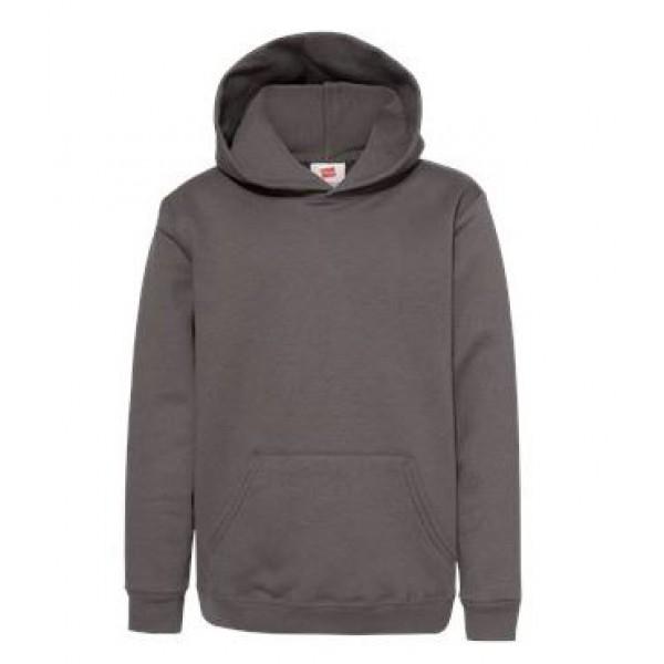 gray youth hooded sweatshirt