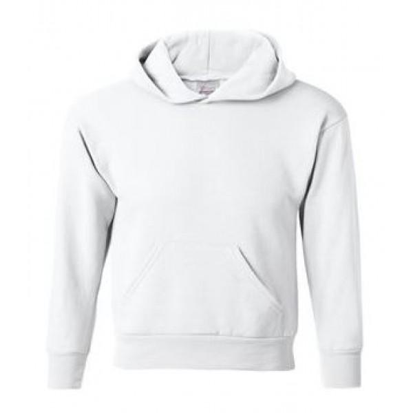 white youth hooded sweatshirt