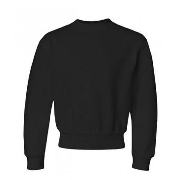 black youth crewneck sweatshirt