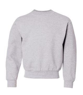 gray youth crewneck sweatshirt