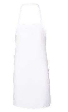 white apron