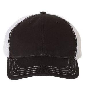 black and white trucker cap
