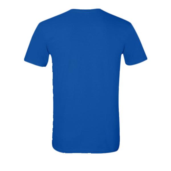 royal blue t-shirt back