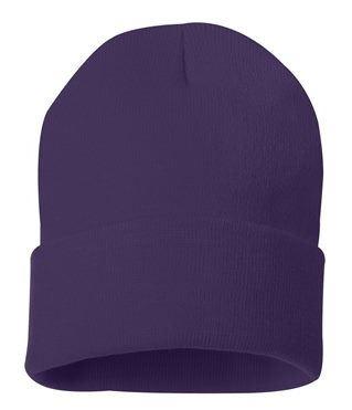 purple beanie