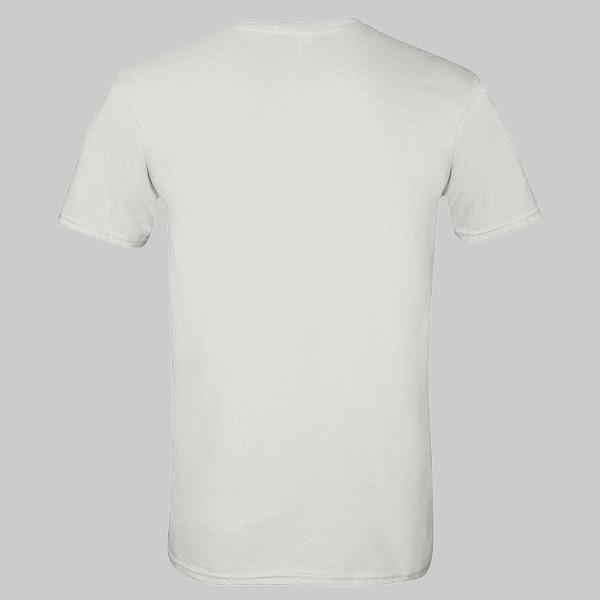 blank white t-shirt back