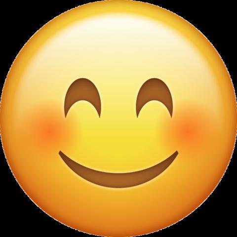 Apple blushing emoji