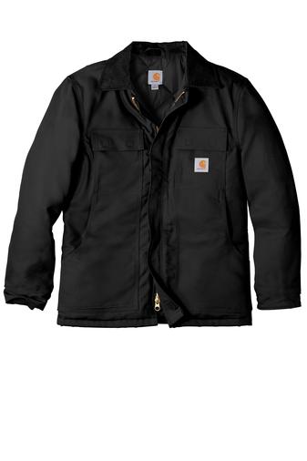 Carhartt black duck traditional coat