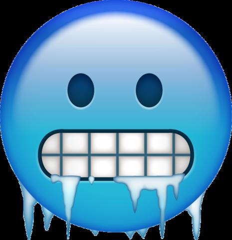 Apple cold emoji