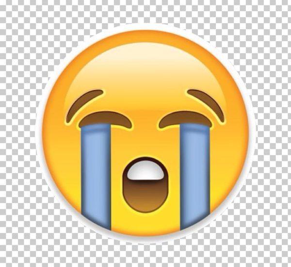 Apple crying face emoji