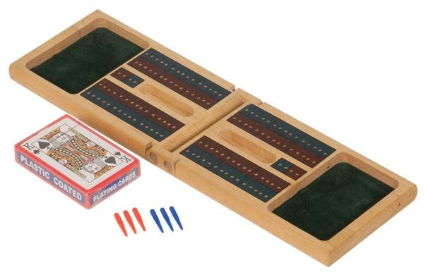 wooden cribbage game