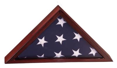 rosewood finish flag case