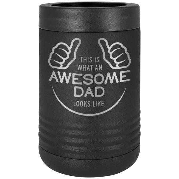 black insulated beverage holder