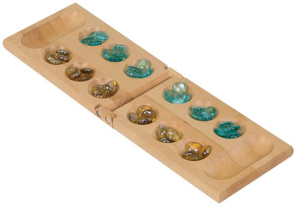 wooden mancala game