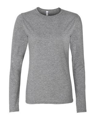 women's gray long sleeve t-shirt