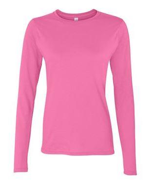 pink women's long sleeve t-shirt