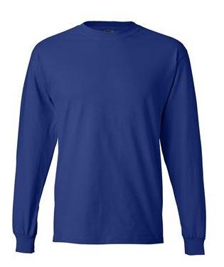 royal blue long sleeve shirt