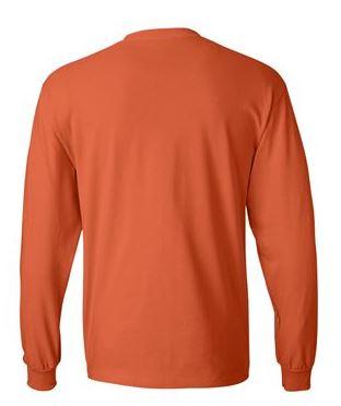 orange long sleeve shirt