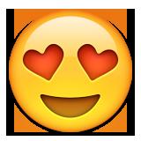 Apple heart eyes emoji