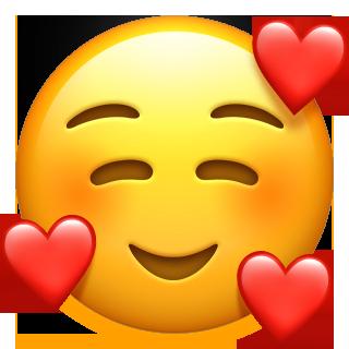 Apple heart face emoji