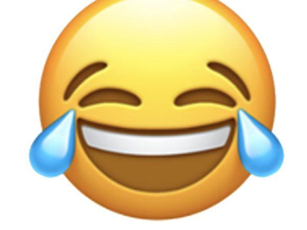 Apple laughing face emoji
