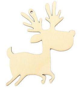 wooden reindeer ornament