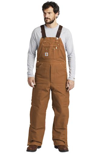 Carhartt bib overalls - brown