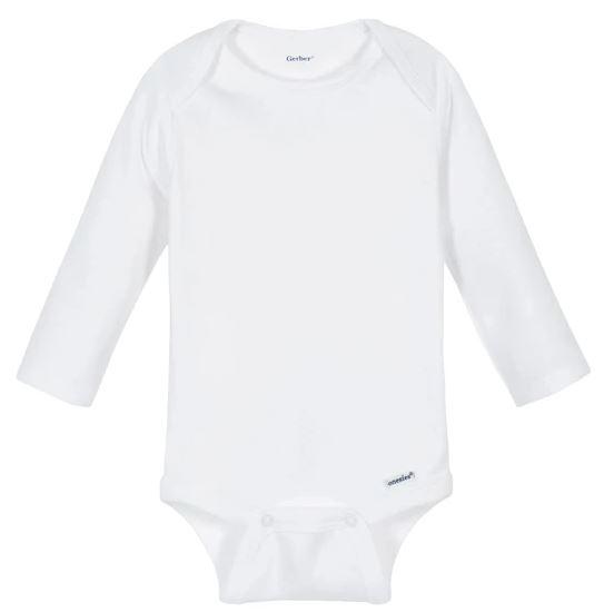 Gerber white long sleeve onesie
