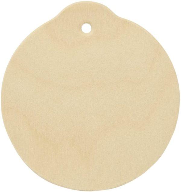 plain round wooden ornament