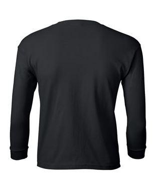 youth long sleeve t-shirt black
