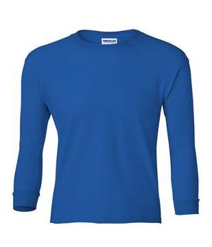 youth blue long sleeve t-shirt