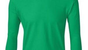 youth green long sleeve t-shirt