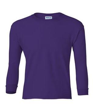 youth purple long sleeve t-shirt