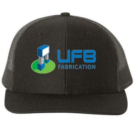 UFB Fabrication black trucker hat front