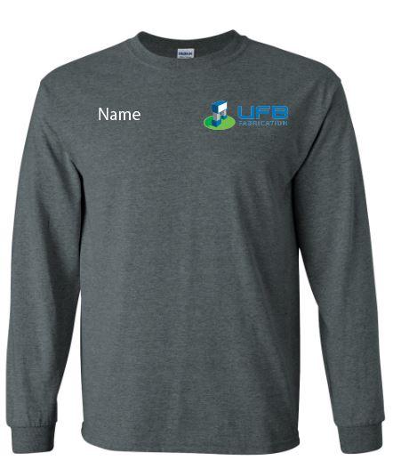 UFB Fabrication charcoal gray long sleeve t-shirt