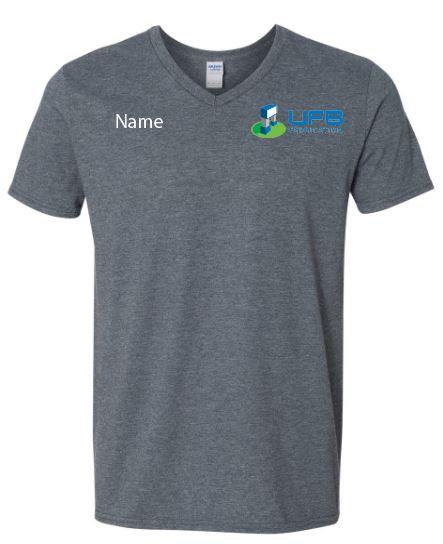 UFB Fabrication charcoal gray v neck t-shirt