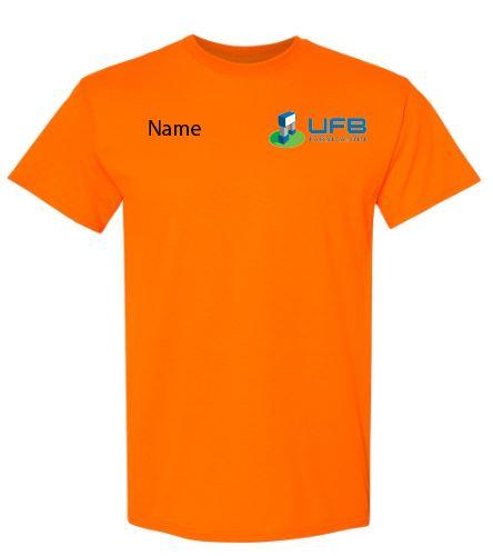 UFB Fabrication safety orange short sleeve t-shirt